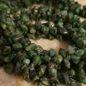 """Shades of Green Jade Chips 26"""" Strand Necklace"""